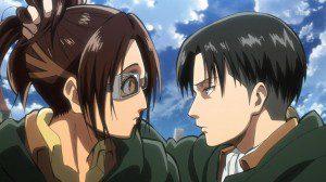 Hanji and Levi AoT