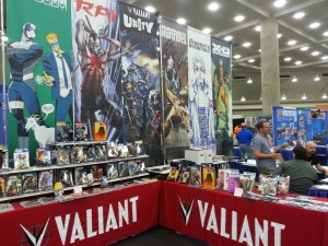 Nice company's like Valiant are present at the Comic-Con